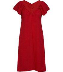 eltoniw dress knälång klänning röd inwear
