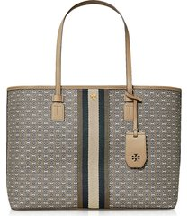 tory burch designer handbags, coated canvas gemini link tote