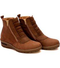botineta de cuero marrón valentia calzados brenda 22