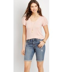 silver jeans co.® womens avery high rise bermuda 9in shorts blue denim - maurices