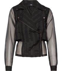ciela jacket short sommarjacka tunn jacka svart nü denmark
