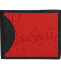 christian louboutin coolcard wallet in black leather