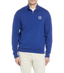 cutter & buck indianapolis colts - lakemont regular fit quarter zip sweater, size xx-large in tour blue at nordstrom
