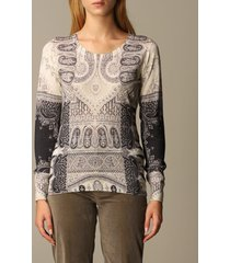 etro sweater etro sweater in paisley silk and cashmere