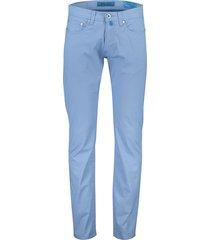 pierre cardin 5-pocket broek stretch lichtblauw