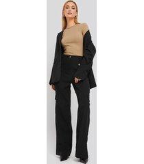 trendyol pocket detailed trousers - black