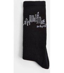 mens la skyline tube socks in black