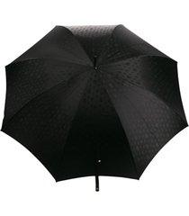 alexander mcqueen guarda-chuva com estampa de caveira - preto