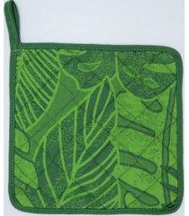 pega de panela selva 100% algodã£o jaquarde - produzido e importado de portugal - verde - dafiti