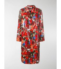 marni coated floral print coat