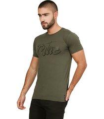camiseta verde militar manpotsherd verdad