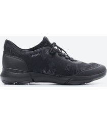tenis casuales mujer geox z02f negro clasico