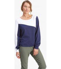 cloudspun colour block crew neck golfsweater voor dames, blauw, maat xxl | puma