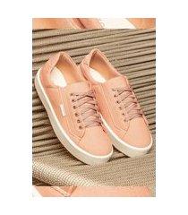 sapatênis lançamento feminino zoccolette tênis casual lona rosa