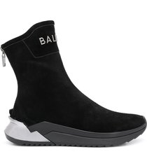 balmain b-glove high-top sneakers - black