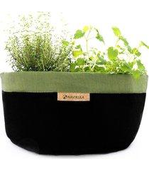 doniczka na zioła z polskim zielonym lnem