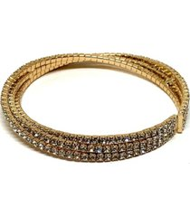 athena designs 3 row crystal twist bracelet