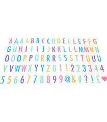 letras coloridas l3 store para luminária letreiro de cinema - lightbox - colorido branco
