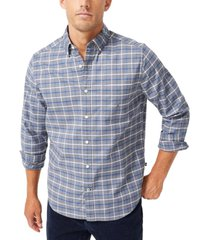 nautica men's plaid oxford shirt