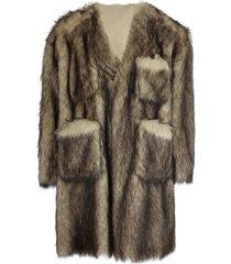 faux fur labo coat