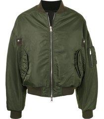 songzio ma-1 double-face bomber jacket - green