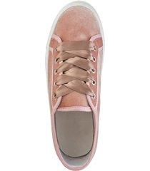 sneakers med platåsula klingel rosa