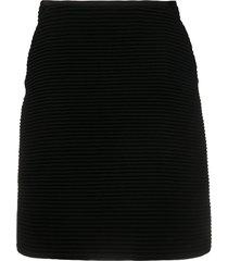 gianfranco ferré pre-owned 2000s ribbed knit skirt - black