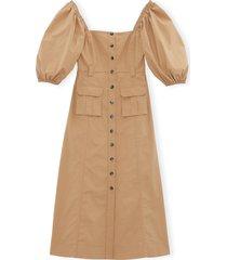 ripstop chino puff sleeve jurk