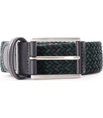anderson's belt woven belt | green multi | f3689-b7