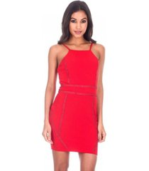 ax paris strappy stud front bodycon mini dress
