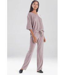 terry lounge pants pajamas / sleepwear / loungewear, women's, grey, size l, n natori