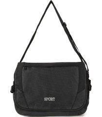 bolso maletín sport negro kubayoff