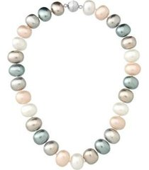 colar estelle semijoias pérolas shell quatro tons 45cm feminino - feminino