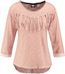 catwalk junkie pastelroze shirt 3/4 mouw