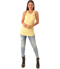 blusa opera rock regata amarela - amarelo - feminino - poliã©ster - dafiti