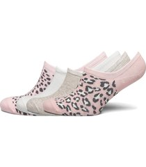 4 p footies pink leo low cut footies träningssockor/ankle socks rosa lindex