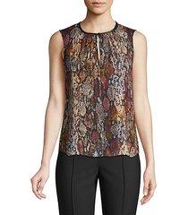 met python print stretch-silk sleeveless top