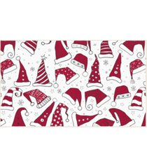 "santa hats accent rug, 18"" x 30"" bedding"