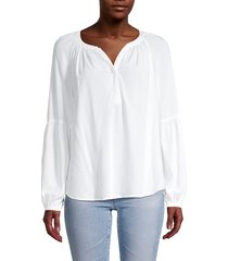beach lunch lounge women's mindy high-low top - white - size xs