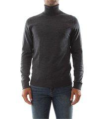 premium by jack&jones 12113489 mark knit roll knitwear men dark grey melange