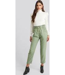 trendyol binding detailed pants - green