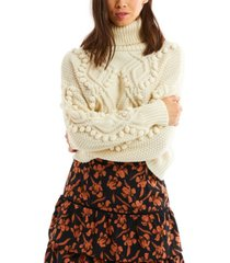 allison new york women's diamond pom pullover