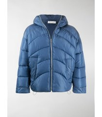 random identities padded hooded jacket