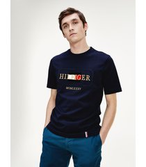 camiseta rope frame relax azul tommy hilfiger