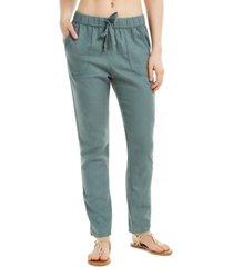 roxy juniors' on the seashore cotton drawstring pants