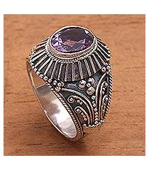 amethyst cocktail ring, 'sakah temple' (indonesia)