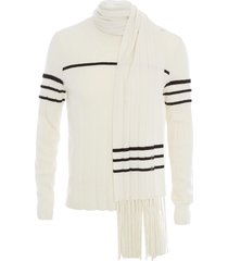 jw anderson scarf detail jumper - white