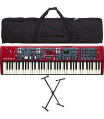 combo nord stage 3 compact piano base estuche