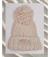 czapka hella pompon cream