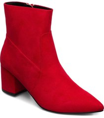 pointy ankle boot shoes boots ankle boots ankle boots with heel röd bianco